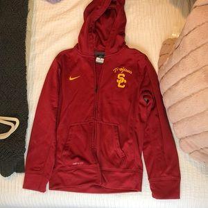 USC Youth Large Zip Up Sweatshirt